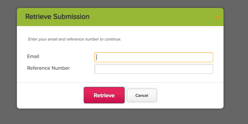 Retrieving a saved Online Form Submission