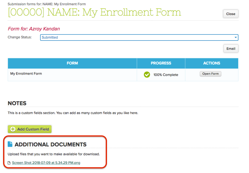 Access Uploaded Files in Submitted Online Forms
