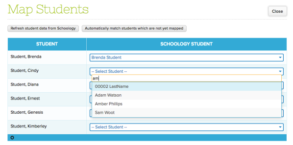 Step 1: Map Students from QuickSchools to Schoology