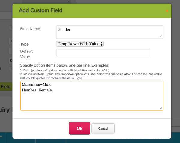 Custom Field Type - Drop Down With Value