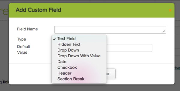 "New ""Drop Down With Value"" Custom Field Type"