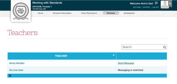Teacher Directory with Restricted Access for Parents