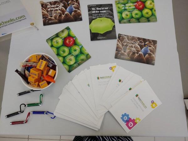 QuickSchools Flyers, Brochures and Giveaways