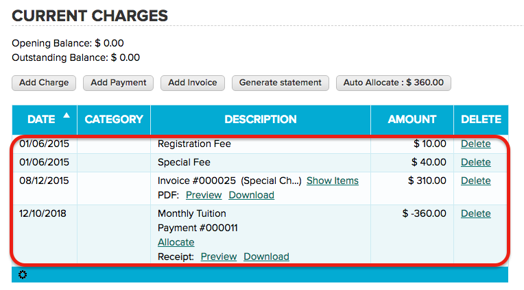 Fee Transactions can only be Deleted, not Edited