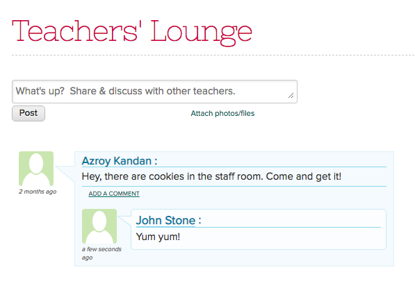 Share and Discuss on the Teachers Lounge