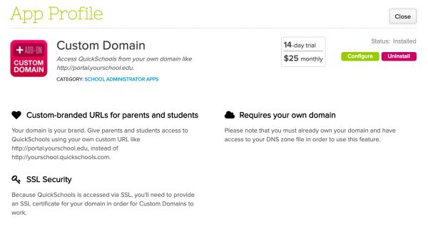 Custom Domain App