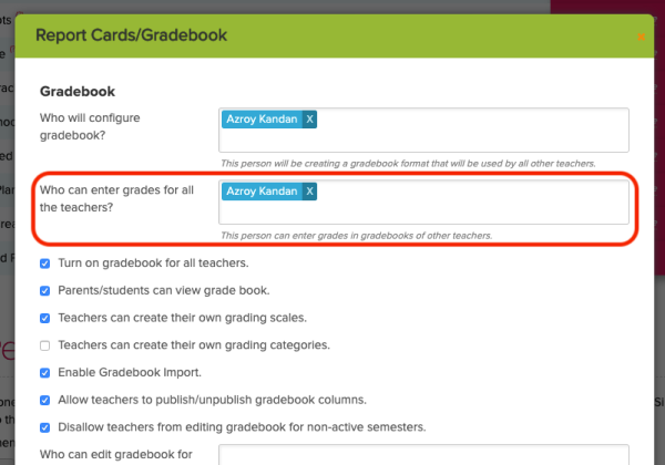 Configure Access to Lock Gradebook Final Grade