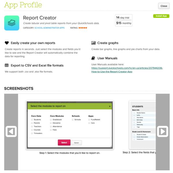 Report Creator App