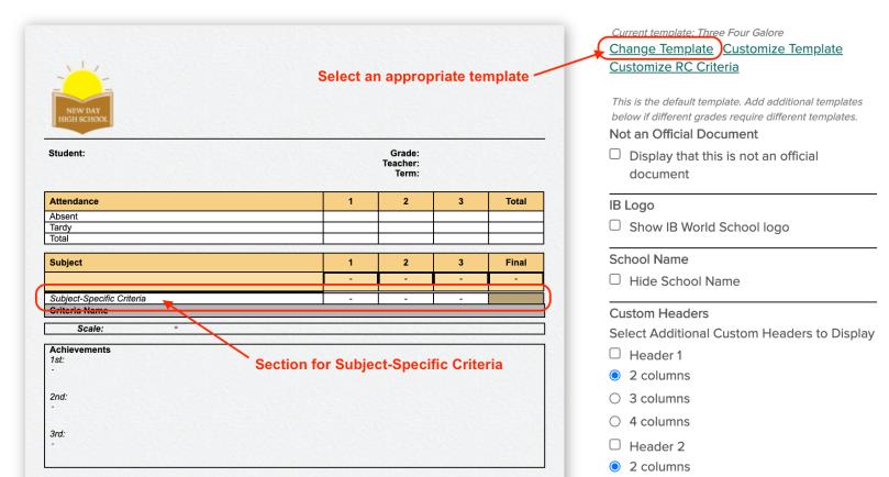 Select Template copy