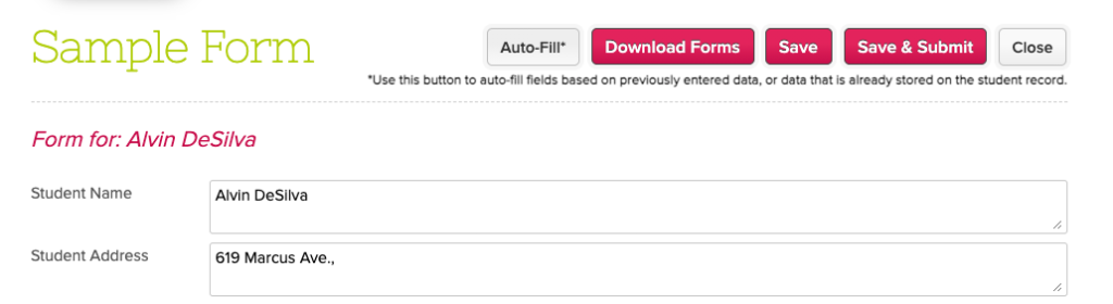 Explore ways to simplify how applicant fill the Online Forms in QuickSchools with auto-fill functionality